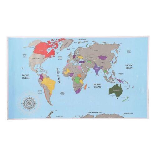 Out of the Blue landkaart Scratch map - Wereldkaart