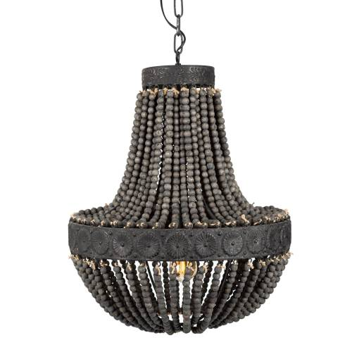 KS Verlichting Kralen Hanglamp XL Zion Dark ø51