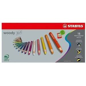 STABILO woody 880 etui 18 stuks + puntenslijper