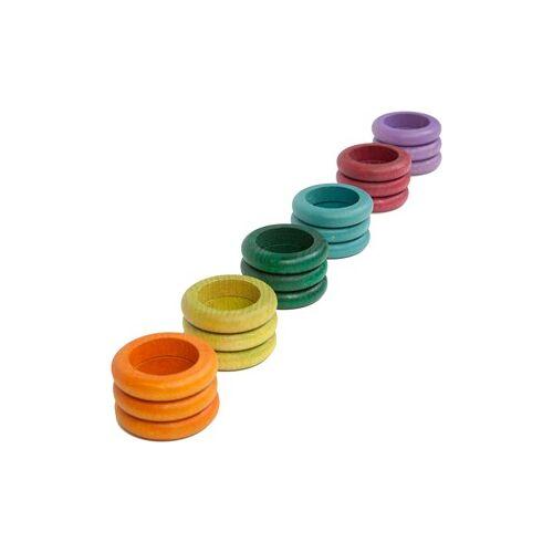 Grapat Houten Ringen Alternatiefkleurig (18 st.)