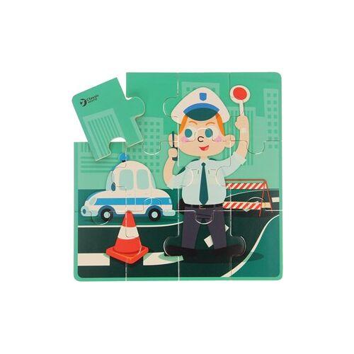 Classic World houten 4-in-1 puzzel Beroepen - 6+9+12+16 stukjes
