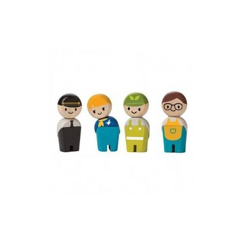 PlanToys Plan Toys Plan City houten poppetjes beroepen