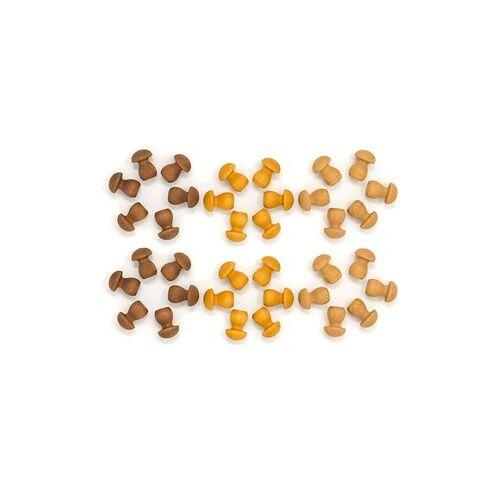 Grapat Houten Mandala Champignon Bruin (36 st.)