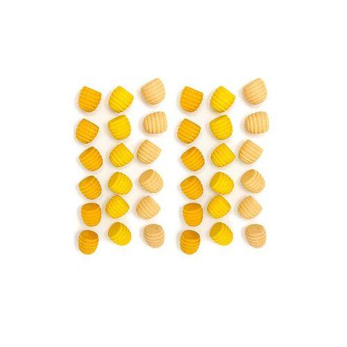 Grapat Houten Mandala Bijenkorfjes Geel (36 st.)