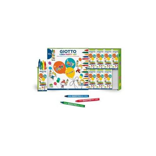 Giotto Party Set 10x4 Cera Box met 10 sets
