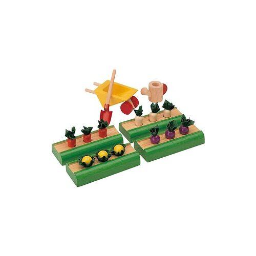 PlanToys Plan Toys houten poppenhuis accessoire groentetuin.