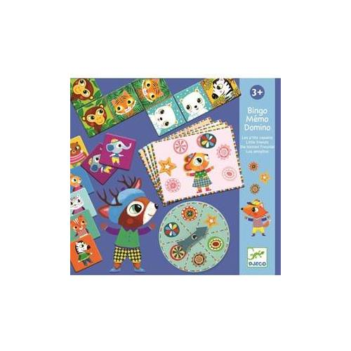 Djeco Bingo Memo Domino - P'tits copains