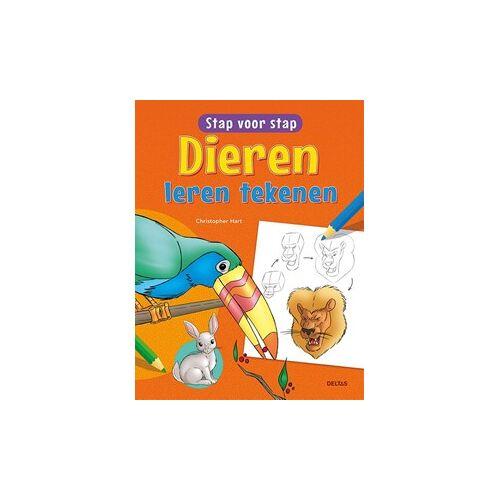 Deltas tekenboek stap voor stap dieren leren tekenen