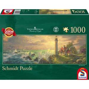 Schmidt legpuzzel Panorama Kinkade Lighthouse, 1000 stukjes