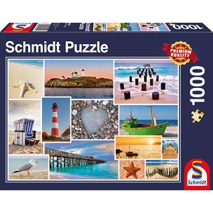 Schmidt Bij de zee, 1000 stukjes - Puzzel - 12+