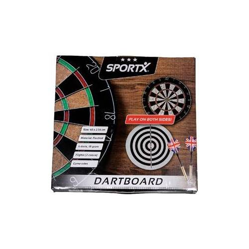 SportX - Dartbord met 6 Pijlen