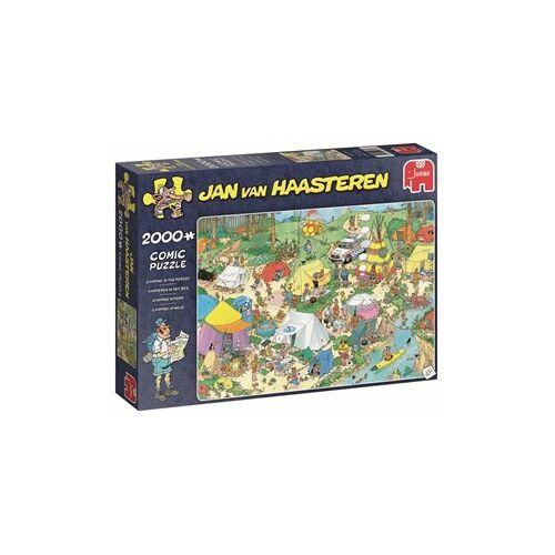 Jumbo Jan van Haasteren - Kamperen in het Bos Puzzel (2000 stukjes)