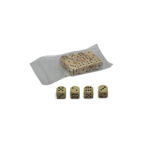 HOT Games Dobbelstenen 16 mm Hout (12 stuks)
