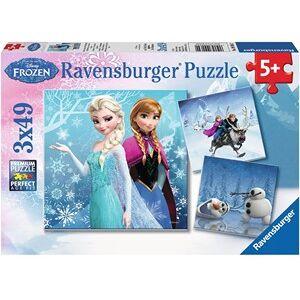 Ravensburger Disney Frozen - Avontuur in Winterland Puzzel (3x49 stukjes)