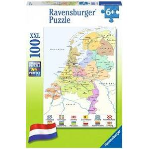 Ravensburger Cito - Nederlandse Kaart Puzzel (100 XXL stukjes)