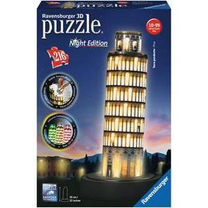 Ravensburger 3D Puzzel - Toren van Pisa - Night Editie (216 stukjes)