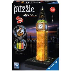 Ravensburger 3D Puzzel - Big Ben - Night Edition (216 stukjes)