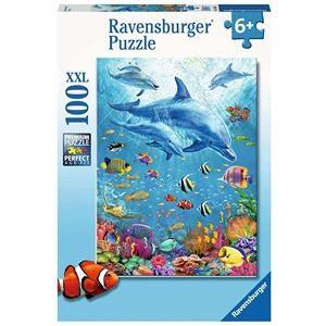 Ravensburger Bijeenkomst van de Dolfijnen Puzzel (100 XXL stukjes)