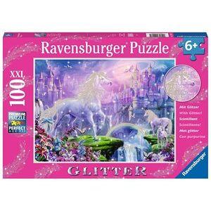 Ravensburger Koninkrijk van de Eenhoorns Glitter Puzzel (100 XXL stukjes)