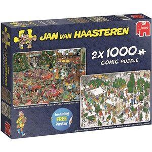 Jumbo Jan van Haasteren - Kerstdiner + Kerstbomenmarkt Puzzel