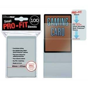 Ultra Pro Sleeves Pro-Fit - Small Clear (60x87 mm)