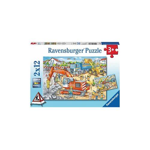 Ravensburger Pas Op, Werkzaamheden! Puzzel (2 x12 stukjes)