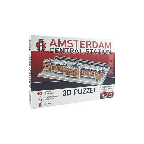 Pro-Lion Amsterdam Centraal Station 3D Puzzel (81 stukjes)
