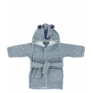 Trixie Babykleding Bathrobe , 1-2 yr - Mrs. Elephant Blauw
