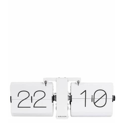 Karlsson Tafelklokken Flip clock No Case matt white stand Wit