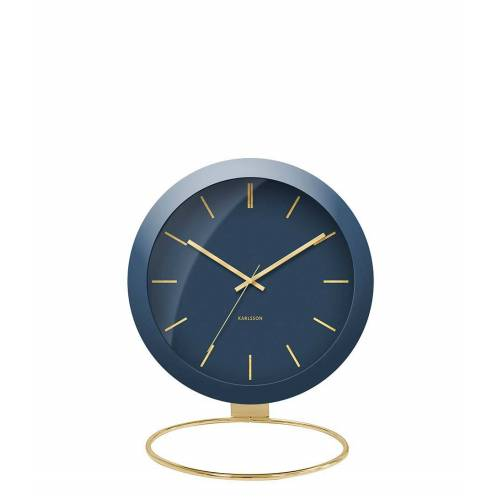 Karlsson Tafelklokken Table clock Globe Design Armando Breeveld Blauw