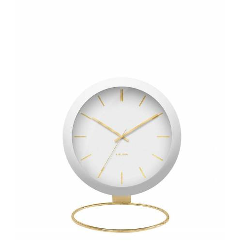 Karlsson Tafelklokken Table clock Globe Design Armando Breeveld Wit
