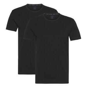 Calvin Klein T-shirts 2P S/S Crew Neck Zwart