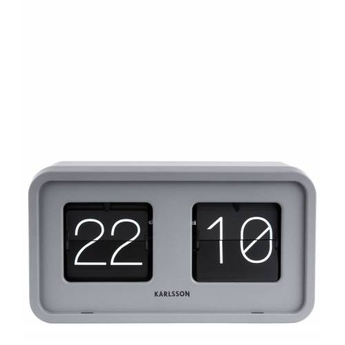 Karlsson Tafelklokken Table clock Bold Flip matt Grijs