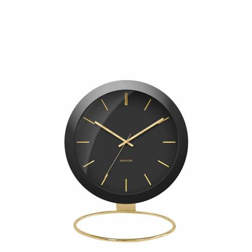 Karlsson Tafelklokken Table clock Globe Design Armando Breeveld Zwart