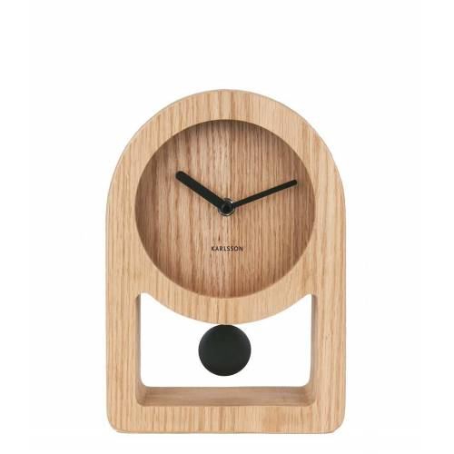 Karlsson Tafelklokken Table clock Lena pendulum Acasa Design Bruin