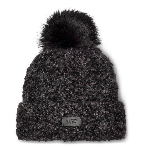 UGG Mutsen W Boucle Knit Cuff Pom Hat Zwart