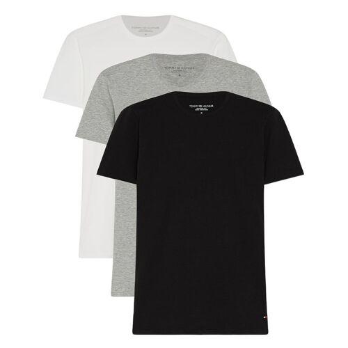 Tommy Hilfiger T-shirts Stretch VN Tee SS 3P Grijs