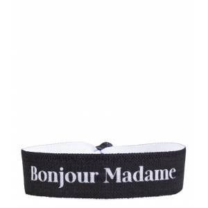 Zusss Armbanden Elastisch Armbandje Bonjour Madame Zwart