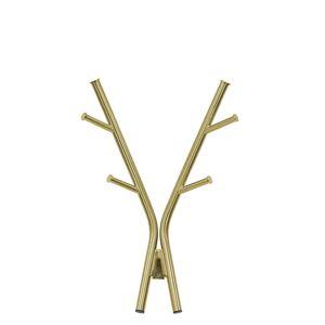 Leitmotiv Kapstokken Wall coat rack Deer steel Goudkleurig
