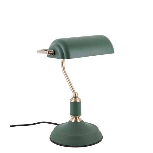 Leitmotiv Tafellampen Table lamp Bank iron Groen