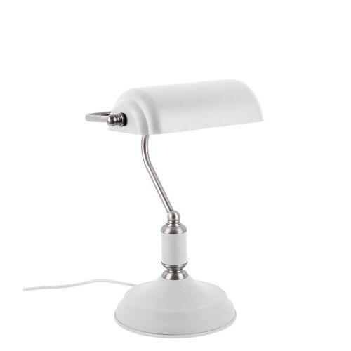 Leitmotiv Tafellampen Table lamp Bank iron Wit