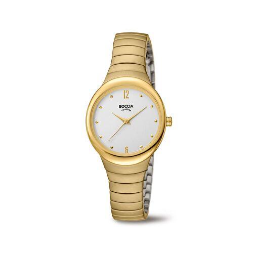 Boccia Titanium 3307.02 horloge Titanium Goudkleur Dames