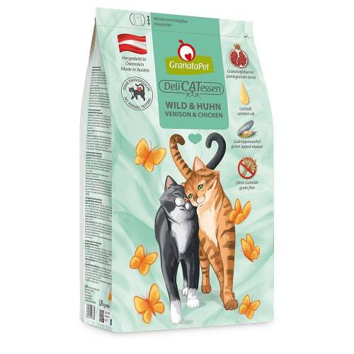 GranataPet DeliCatessen Adult Wild & Kip Kattenvoer - Bestel ook natvoer: 6 x 200 g GranataPet DeliCatessen - Kip PUUR