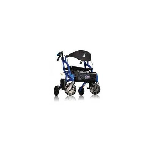 Able2 Airgo Fusion inklapbare rollator transportrolstoel in 1