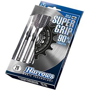 Harrows Super Grip Darts Supergrip Steeltip 22 g, zilver, 24 g