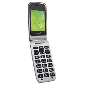 Doro 2414 gsm mobiele telefoon in elegant klapdesign, 2414, staal, zilver, 0, staal/zilver.