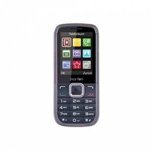 Beafon C140_ eu001bs mobiele telefoon (Dual SIM, TFT kleurendisplay, qvga camera, Bluetooth, 6,09cm (2,4inch Zwart/zilver