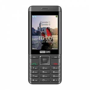 "MaxCom mm236Negro Plata mvil Dual SIM 2G Senior 2.8"" wonen NL 2MP Bluetooth microSD radio FM"