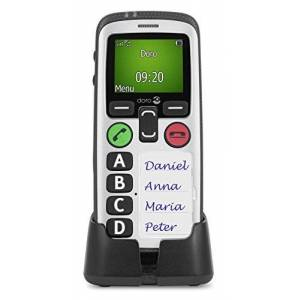Doro Secure 580 GSM mobiele telefoon (4 sneltoetsen, veiligheidstimer), zwart-wit, Single
