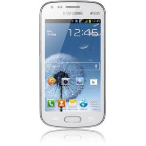 Samsung Galaxy S Duos S7562 Smartphone (10,2 cm (4 inch) touchscreen, Cortex A5, 1 GHz, 768 MB RAM, 5 megapixel camera, Android 4.0), DE Ware, wit
